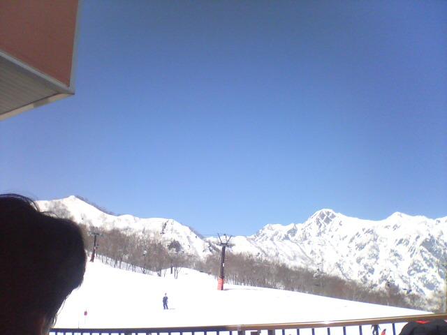 五竜岳と頭