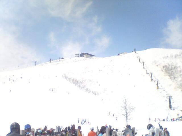 今日の八方尾根スキー場
