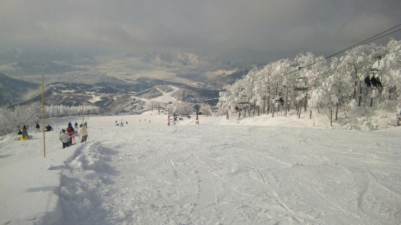 スキージャム勝山へ来てます(初滑り)