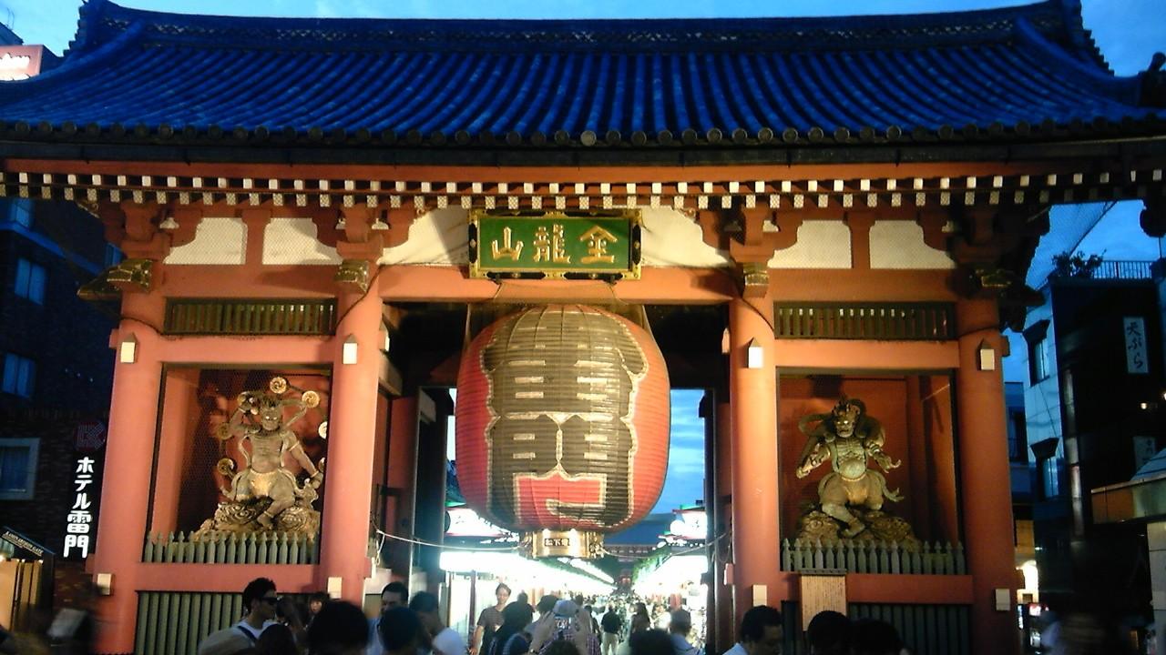 東京出張中「浅草寺でショック」